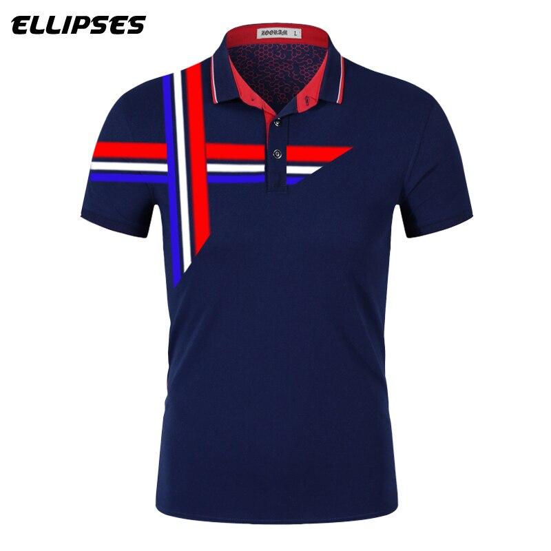 New Design Men Cotton Flag   Polo   Shirt Men Short Sleeve   Polos   Weaving Tape Embroidery   Polos   Shirt Tops Brand   Polos   Para Hombre