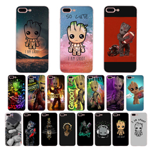 IMIDO cute Marvel Avengers GROOT Soft silicone fitted phone case for iphone X XS XR XSmax 7/8/6s/6plus 5 6 7 8 5/6s SE TPU shell