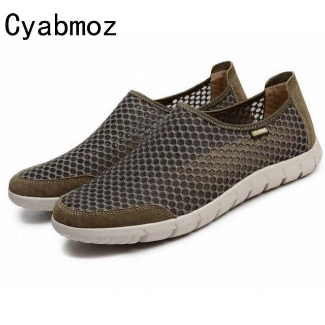 Homme Chaussure D'été mode Chaussures Confortable Réseau chaussures Hommes Slip On Appartements Chaussures Hommes mocassins ERFePqAMg