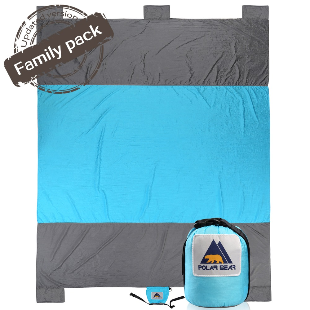 Outdoor Camping Sand Free Beach Mat Nylon Beach Blanket Picnic Sand Anchors Blanket Portable Picnic Mat Camping Climb Sports Mat portable sand free mats for beach picnic camping