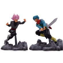 12cm Dragon Ball Z PVC Action Figure Toys Anime Super Saiyan Son Gohan and Trunks Cartoon Figures Kids Collection Model Toy 24cm dragon ball z super saiyan son gohan master stars piece new msp cartoon action figures dragonball collectible model toy