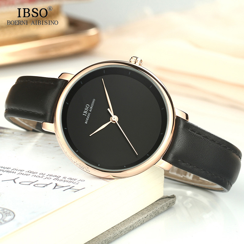 цены IBSO Wrist Watch Women Simple Clock Luxury Brand Ladies Quartz Watch Reloj Mujer 2018 New Fashion Leather Women Watches #6606