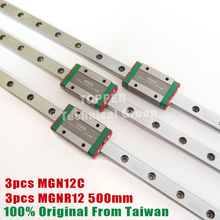 Taiwan HIWIN stainless steel MGN12C guide block with 500mm mini guide rail MGN 12mm