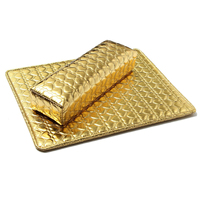 Miękkie Strony Poduszki Poduszki I Pad Reszta Uchwyt Nail Art Podłokietnik Manicure Nail Art Akcesoria PU Leather Złoty