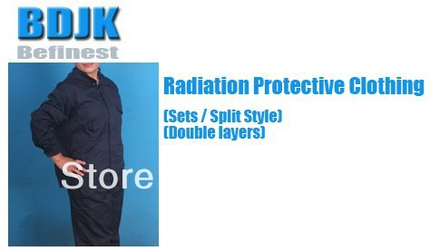 Working Clothes Radiation Protective Clothing Sets with Metal Fibrosis Conductive Fabric 2 Layers