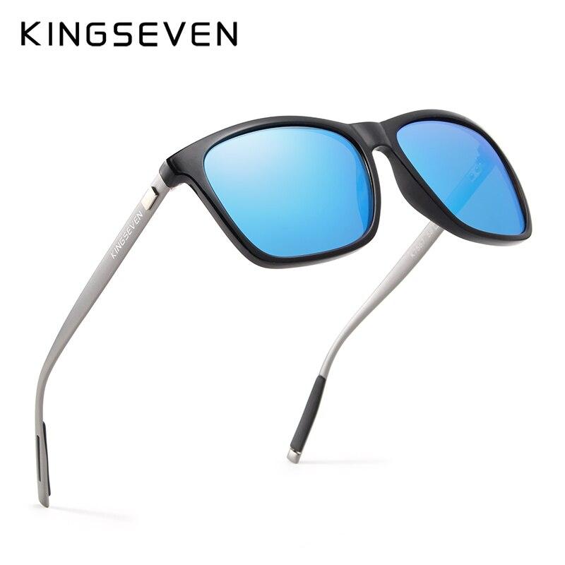 KINGSEVEN Cadre En Aluminium de Marque lunettes de Soleil Hommes Polaire Miroir Soleil lunettes Femmes de Lunettes Accessoires N787