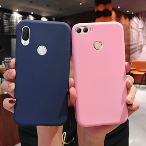 Image 3 - matte silicone phone case on for huawei P smart plus p20 p30 p8 p9 p10 lite 2017 2018 2019 candy color soft tpu back cover funda