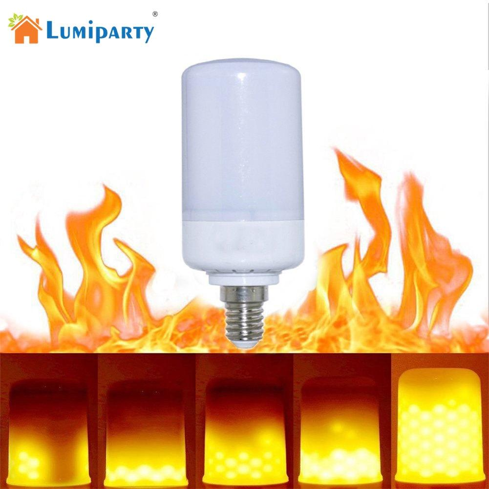 LumiParty 85-265v 99LEDs E14/E27/B22 Simulated Flame Light Bulb Candles Flicker Effect for Xmas Festival Celebration Decoration