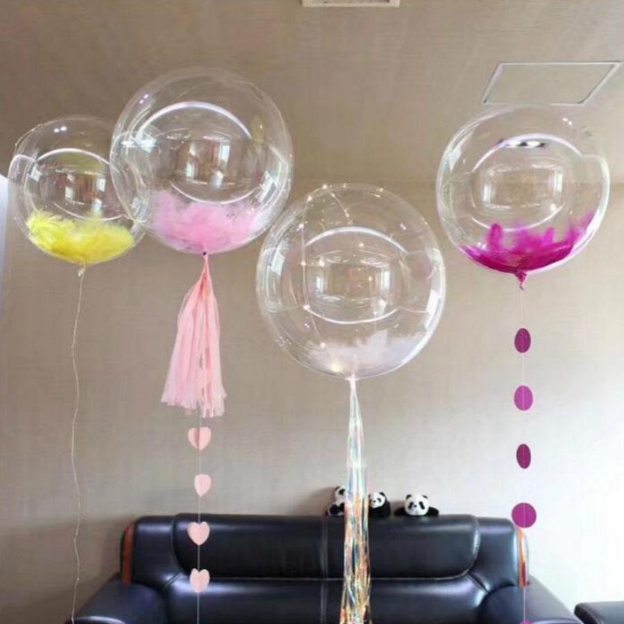 3stk 24inch Transparente oppustelige balloner Sommer Bachelorette Party Babyshow Fødselsdag Bryllupsdekoration Legetøjsartikler