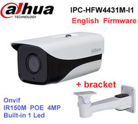 Original Dahua IPC HFW4431M I1 4MP Stellar Camera Built In POE IP67 IR50M Cctv Camera With