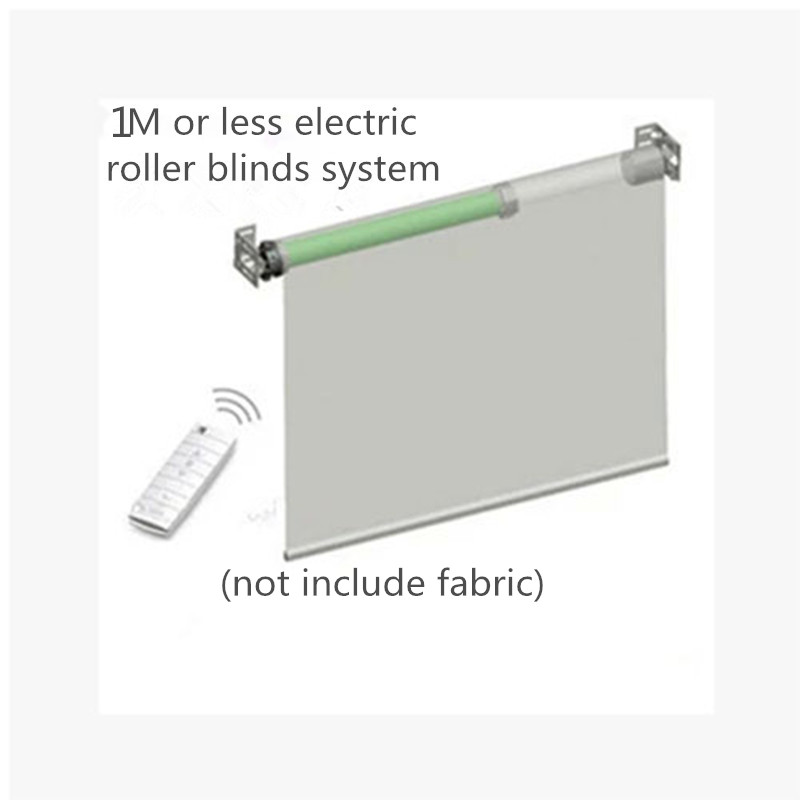Ewelink 1M Width Elecric Customizable Rolling Blinds System with Original Dooya Tubular Motor DM35S/35R Smart Home Automation