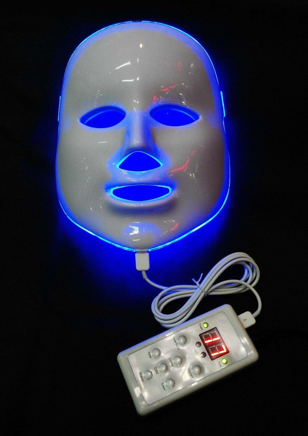 LED photon électrique masque Facial peau PDT rajeunissement de la peau beauté thérapie 7 couleurs lumière salon de beauté Anti-âge élimination des rides
