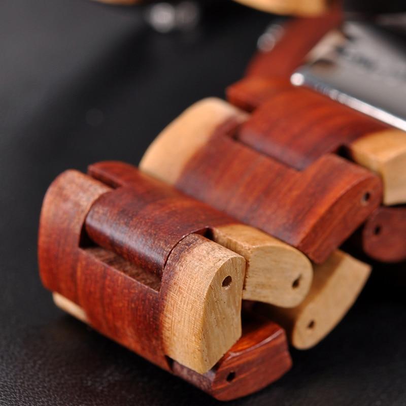 relogio masculino BOBO BIRD Watch Men 2 Time Zone Wooden Quartz Watches Women Design Men's Gift Wristwatches In Wooden Box W-R10 11