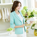 Sign of small suit jacket female spring Korean women Slim temperament a buckle long-sleeved short paragraph small suit