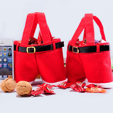 1 pc Candy Bag Christmas Gift Containers Decorations Holders Clothes Kitchen Decoration For New Year Xmas Dinner Party