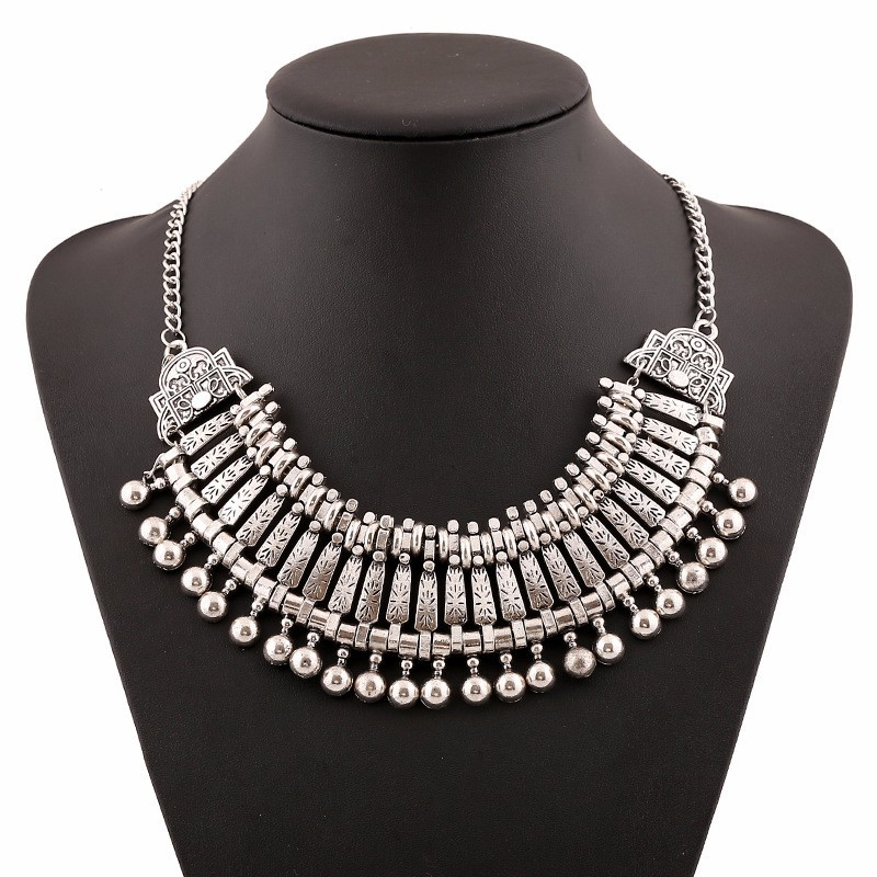 Online shop tibetan ethnic style silver metal necklaces pendants online shop tibetan ethnic style silver metal necklaces pendants bohemian vintage statement necklace india bib collar necklace aliexpress mobile aloadofball Images