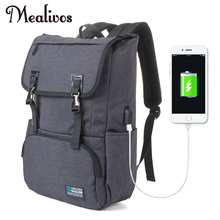 Mealivos USB charging 17inch Laptop Backpacks For Teenager Fashion Male Mochila Leisure Travel backpack anti thief