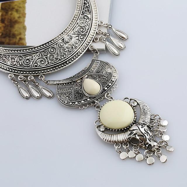 Купить lzhlq 2019 винтажное резное геометрическое ожерелье с кисточкой картинки