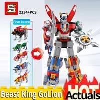 SY 1130 voltron Robot King 5 in 1 like iedas 21311 set 2334PCS Building Blocks Bricks Toys for Children birthday christmas Gifts