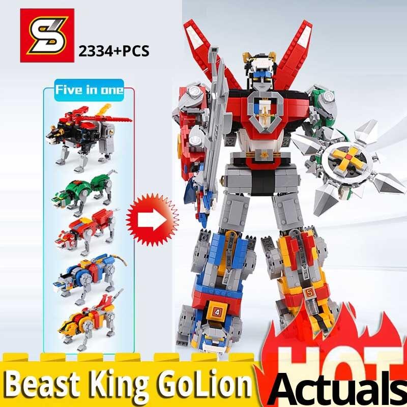 HSANHE Voltron Beast King GoLion Building Blocks Toy Bricks