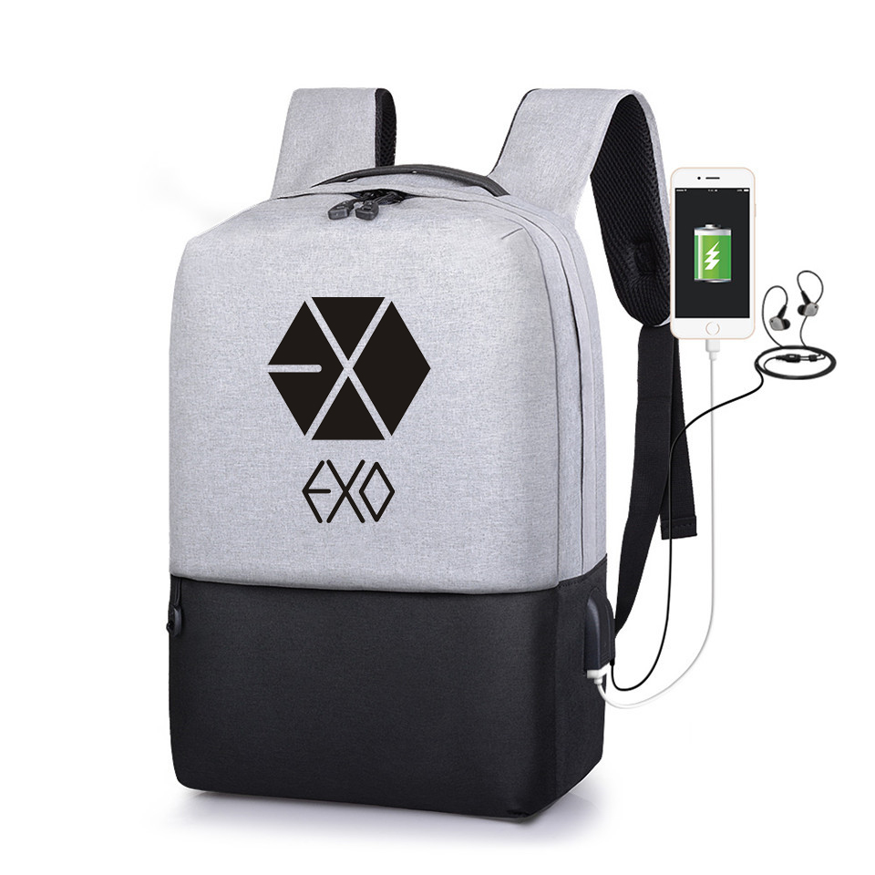 Luggage & Bags Men's Bags Exo Fromplanet Kris Luhan Sehun Canvas Travel Bag Schoolbag Backpack New