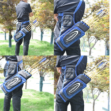 4 Tubes Hunting Archery Quiver Compound Bow Arrow  Quiver Or Recurve Bow and Arrow Bag Hunting  Case Archery Arrow Quiver  Blue 45 8 5cm arrow quiver oxford cloth arrow bag 2 point single shoulder for archery hunting shooting archery