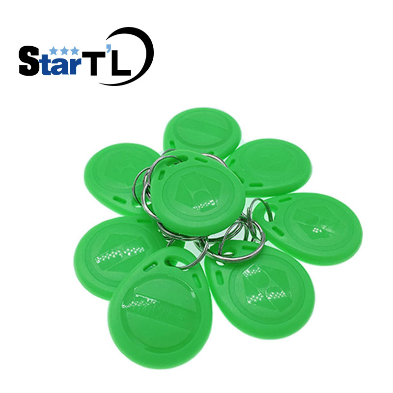 (10 Pcs/lot) 125khz RFID Keyfobs Proximity Tags Key Token TK4100 Chip Keycard Read Only Access Key-chain Card For Access Control
