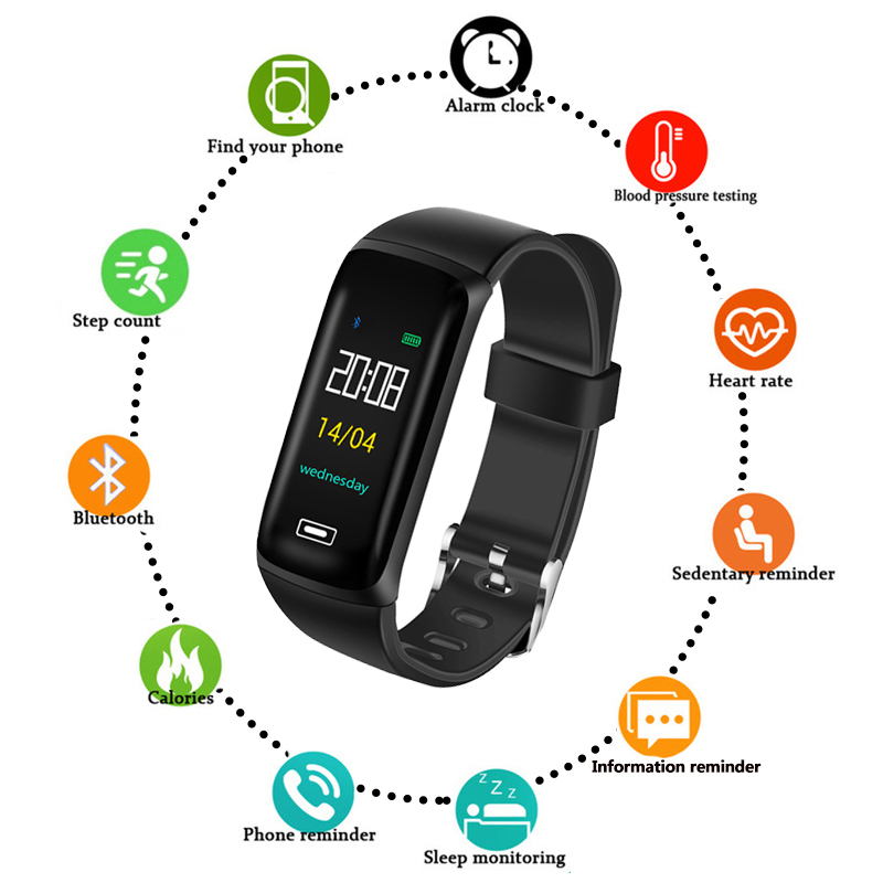 Bluetooth Smart Wristband Watch for IOS Android Men Women Digital Sports Pedometer Fitness Heart Rate Monitor Bracelet Watches skmei fashion smart watch pedometer sleep heart rate monitor waterproof ladies smart wristband ios android women sports watches