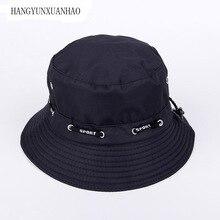 Women Bucket Hats Pesca Hat Sun Cap Hip Hop Fisherman Panama Bob Chapeau Pure Color Cotton Brand Hot Summer Men