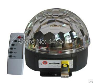 3pcs*3W led Mini Music Crystal Magic Ball with MP3 RGB Crystal Magic ball effect light