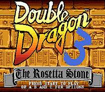 Double Dragon 3 16 bit MD Game Card For Sega Mega Drive For Genesis