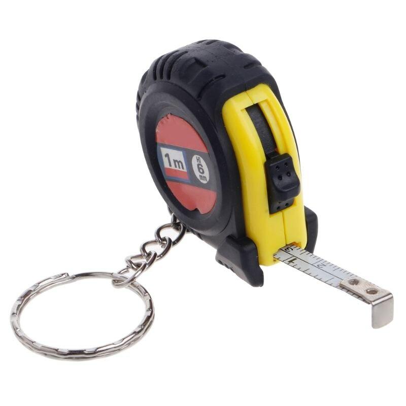 Steel Tape Measure Tape Ruler Mini Compact Lightweight Keyring Design Pocket Size Imperial