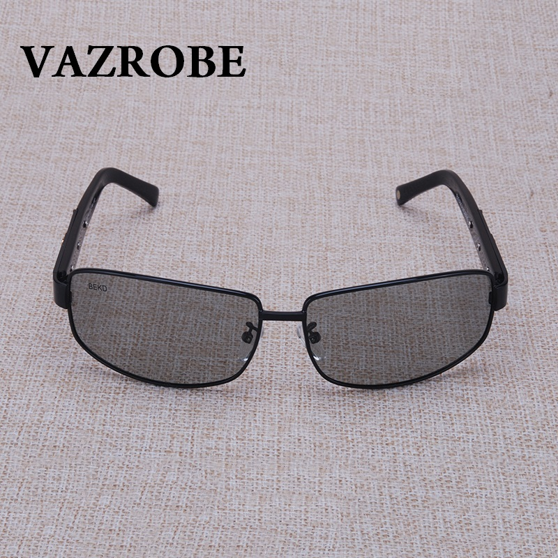 Vazrobe Photochromic Glasses Chameleon for Men Sunglasses Polarized Glass Sun Glasses for Man Driving Antiglare UV400 Day Night