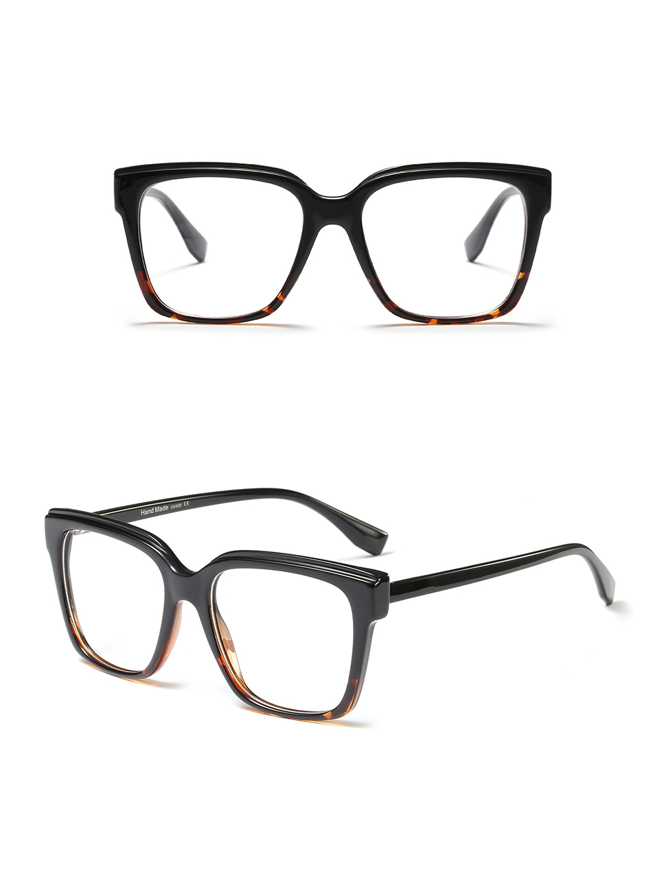 bc089e9f0ce 2019 Peekaboo Black Square Eyeglass Frames Women Accessories Clear ...