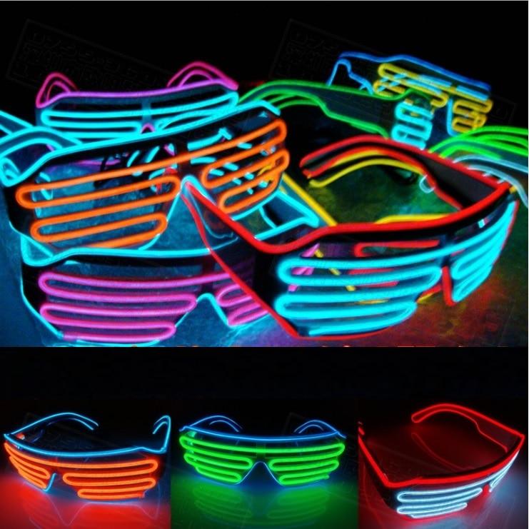50pcs Multicolor Eyeglass Cold Lights EL Wire LED Light