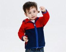 2-8Y New Autumn Winter Boys Kids Coats Long Sleeve Hooded Collar Zipper Fleece Warm Jackets for Boys Girls KW-1634-1
