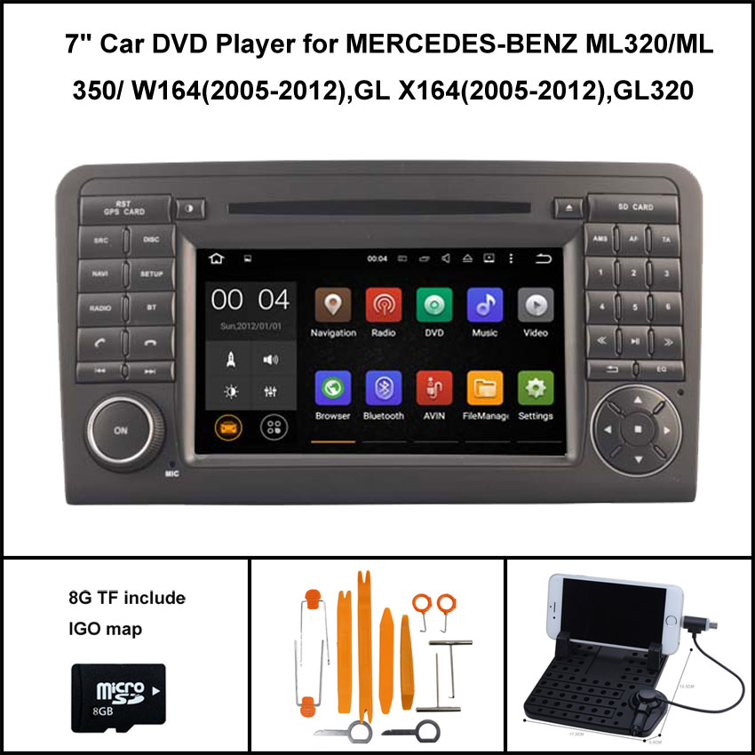 Android 5 1 car dvd player for mercedes benz ml320 ml 350 for Mercedes benz app for android