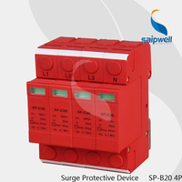 Hot Sale 4P 20KA~40KA C ~385VAC Surge Protection Device/ Lighting Surge Protector(SP C20/4)