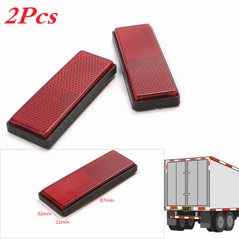 1 Pair Reflective Plate Sticker Sheeting For Truck Safety Warning bande réfléchissante scooter orange pour fourche