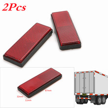 1 Pair Reflective Plate Sticker Sheeting For Truck Safety Warning