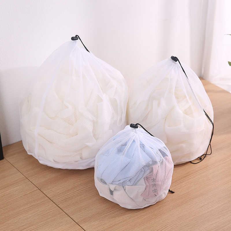 Nova 1 pcs Sacos para Máquinas De Lavar Roupa para a Roupa Suja Lavanderia 3 Tamanhos Nylon Sutiã Cueca Sacos de Proteção