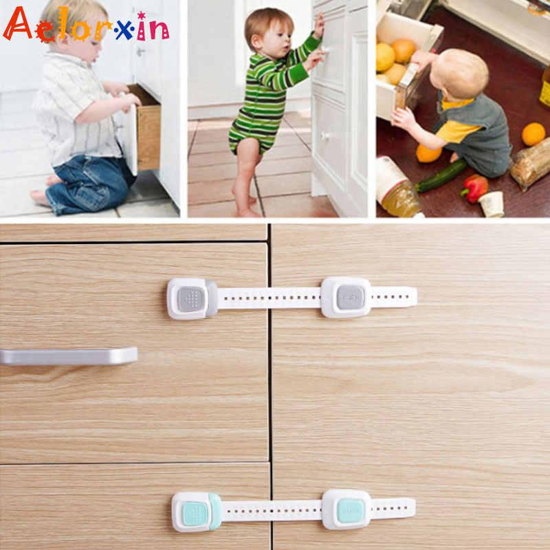 1Pcs ทารกแรกเกิดปรับความยาว Multifunction เด็กตู้เย็นลิ้นชักห้องน้ำล็อคป้องกันเด็กความปลอดภัย