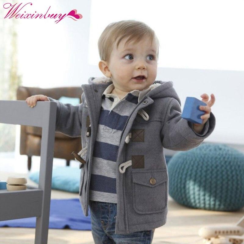 Зимняя верхняя одежда для новорожденных мальчиков детская куртка модная куртка для ребенка с капюшоном теплая одежда для детей