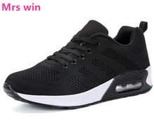 Women sneakers 2017 AIR Summer new women running shoes black outdoor sports shoes Lightweight breathable lace Flat jogging