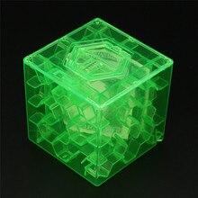 Новинка, 3D куб головоломка, деньги, лабиринт, копилка, копилка, коллекция монет, чехол, коробка, забавная игра в мозги, игрушка-стресс, 3D куб, головоломка P6