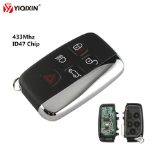 YIQIXIN 5 Buttons Remote Smart Car Key 433Mhz ID47 Chip For Land Rover Discovery 4 Freelander Sport Evoque LR4 Luxury 2010-2015