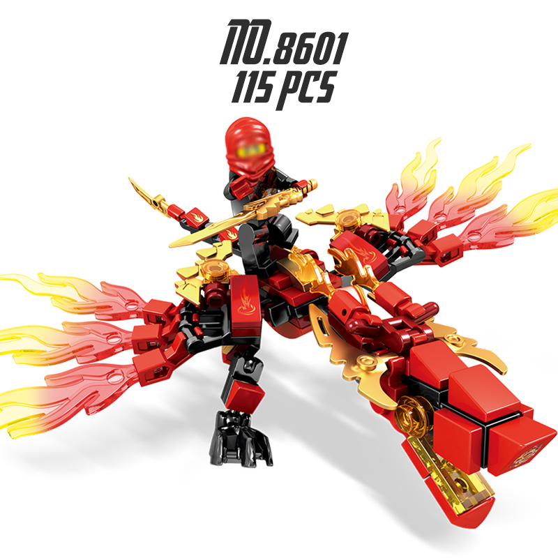 Ninjago Building Block Dragon Toys for Children Educational DIY Bricks Compatible Loegoed Ninjagoes