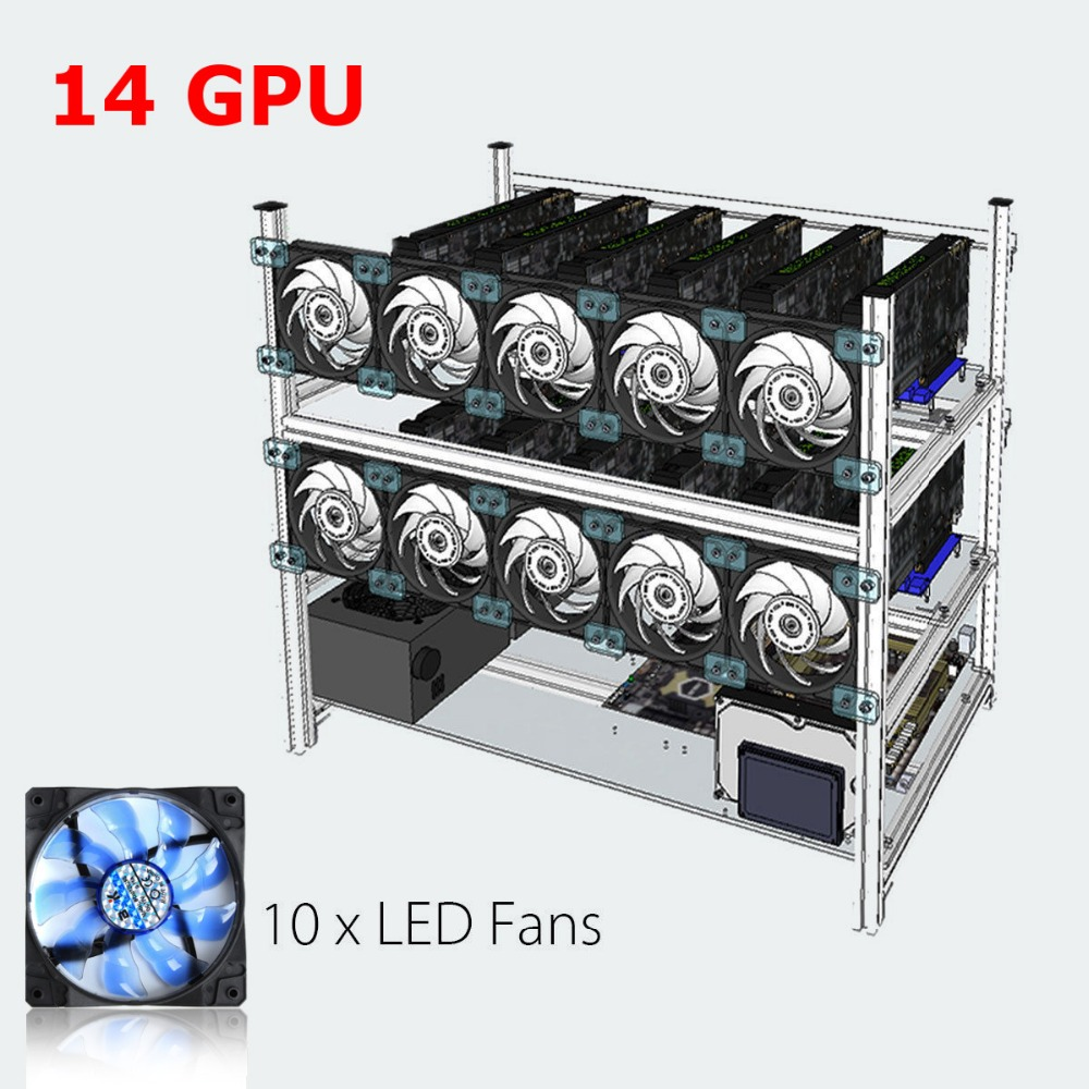Apilable aire plataforma minera Marcos minero + 10 LED Ventiladores ...