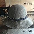 Оригинал - небольшой аромат воздуха бассейна hat cap смешанный эш рыбак крышка шерсть шляпа джокер женский шляпа