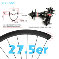 7 TIGER carbon 27.5er mountain bicycle 24x24 mm 650b wheelset mtb wheels for XC version withouter holes, Novatec mtb hubs